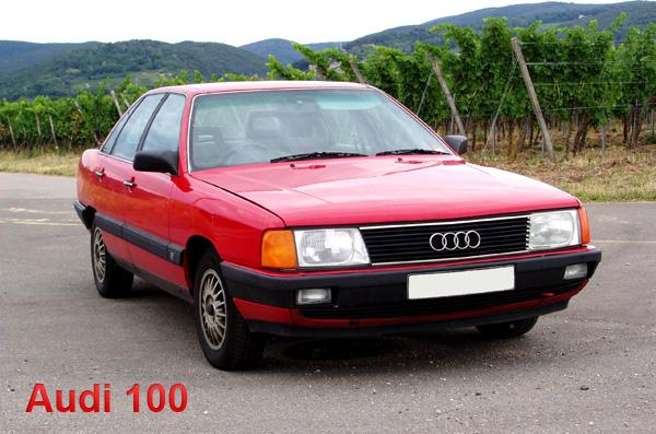 Машина марки Audi, модель 100