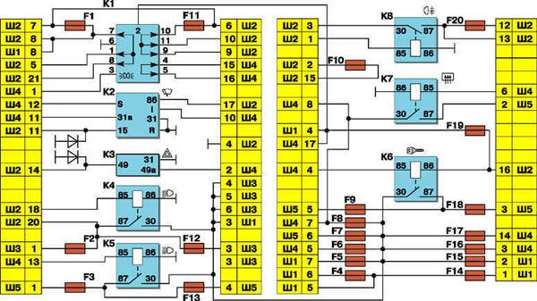 Схема соединений в монтажном
