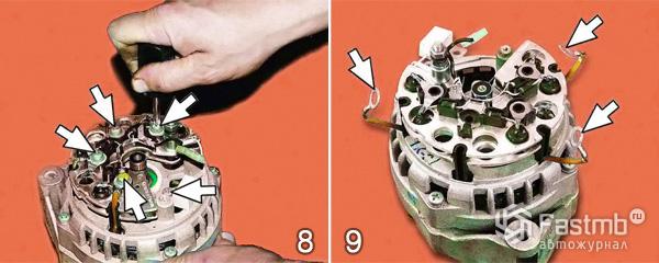 Разбор генератора ваз 2110
