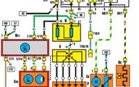 Схема системы реле топливного насоса, зажигания