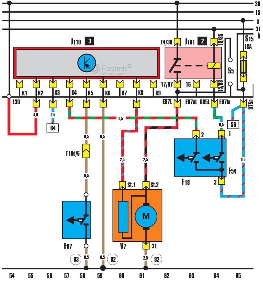 схема соединения вентилятора в ванной