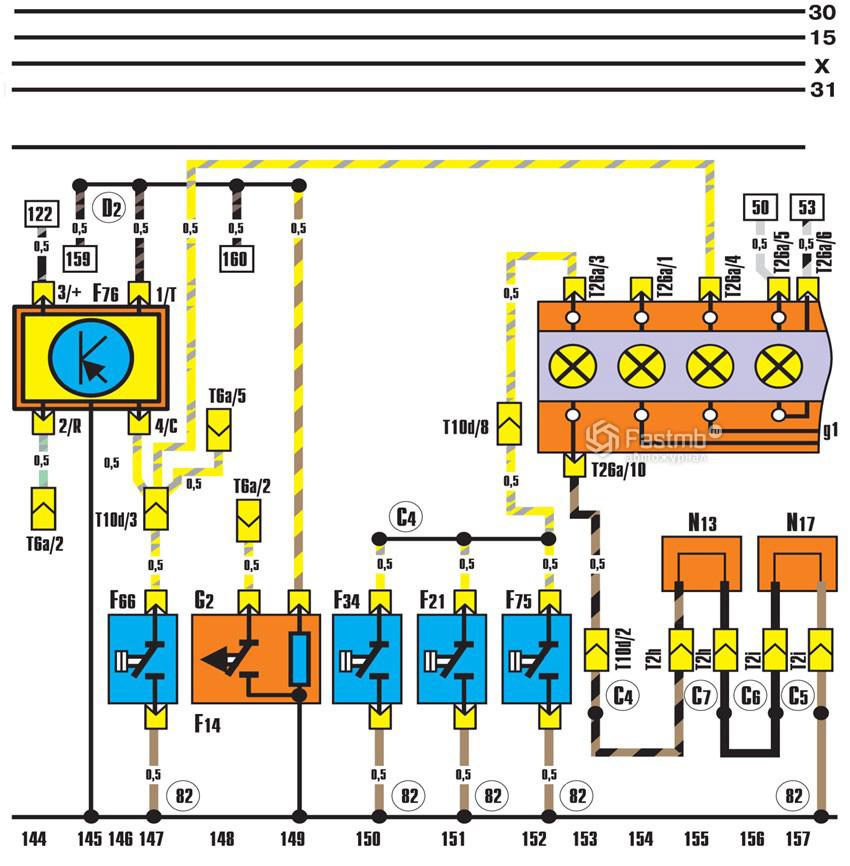 Схема контрольных ламп