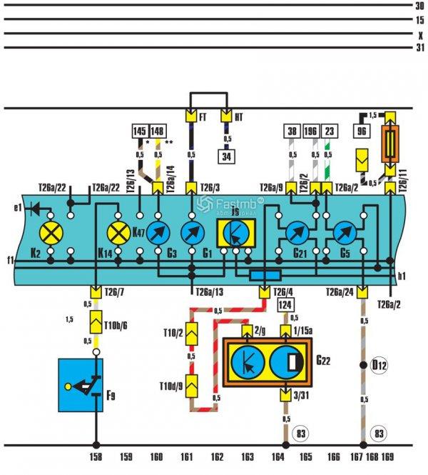 Электрическая схема панели