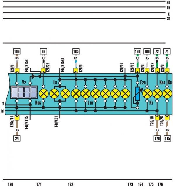 Audi100 панель приборов схема