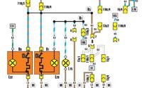 Схема Ауди 100: прикуриватель, его освещение и магнитола