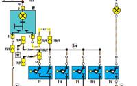 Схема внутреннего освещения багажника Ауди 100