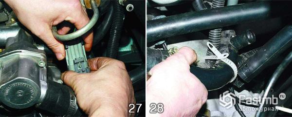 Снятие двигателя ВАЗ 2110 шаг 27-28