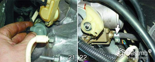 Снятие двигателя ВАЗ 2110 шаг 21-22