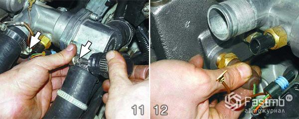 Снятие двигателя ВАЗ 2110 шаг 11-12
