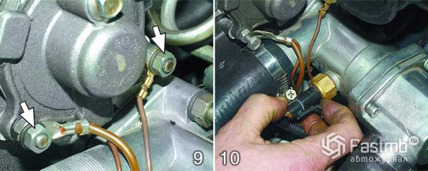 Снятие двигателя ВАЗ 2110 шаг 9-10