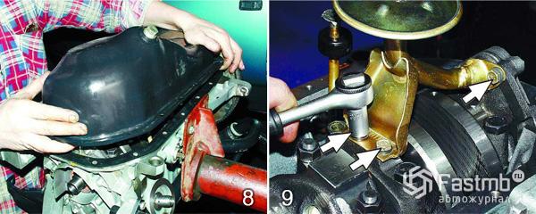 Разборка двигателя ВАЗ 2110 шаг 8-9