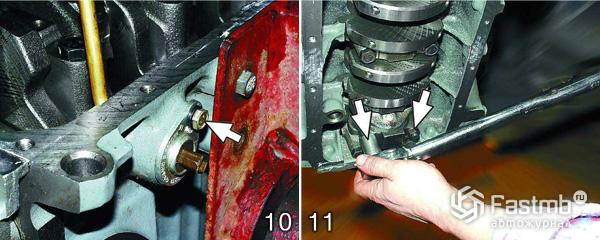Разборка двигателя ВАЗ 2110 шаг 10-11