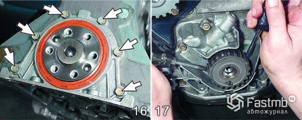 Разборка двигателя ВАЗ 2110 шаг 16-17