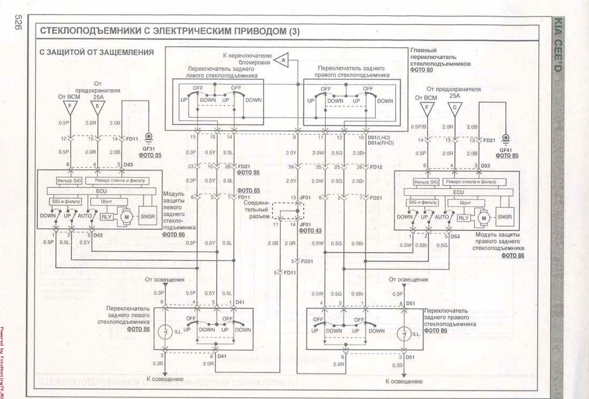 Ceed jd электрические схемы 171