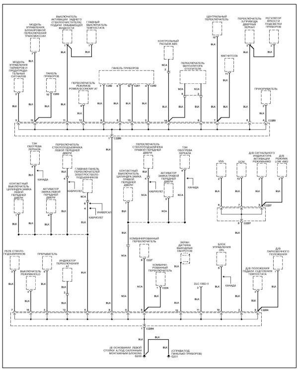 Схема Kia Sportage 1