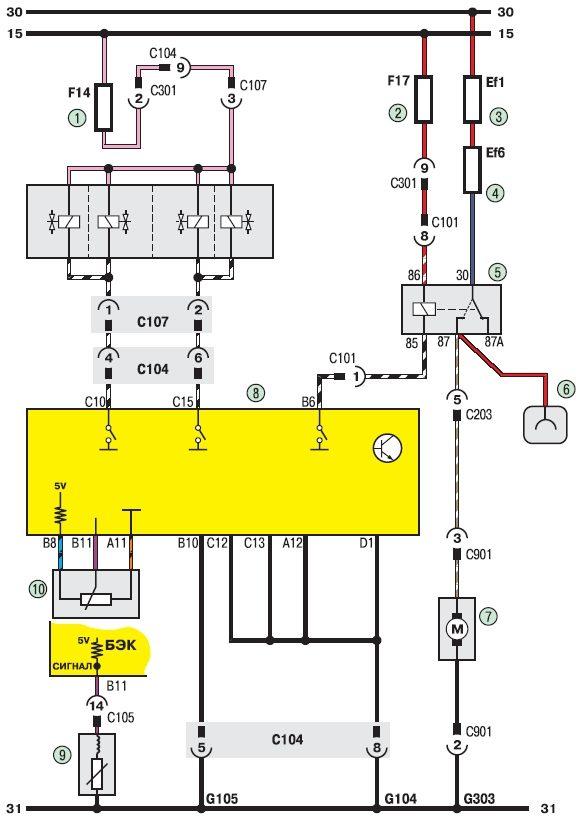 Электросхема системы