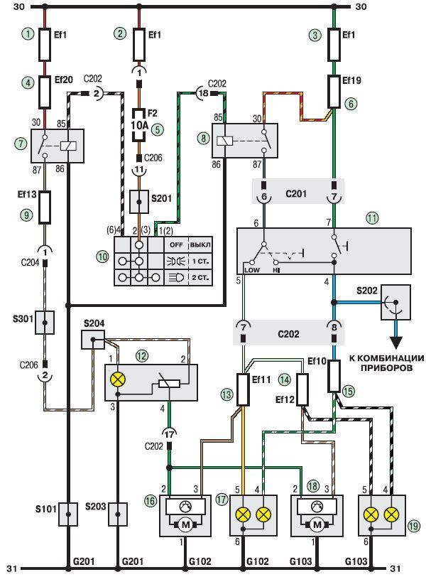 Электросхема соединения