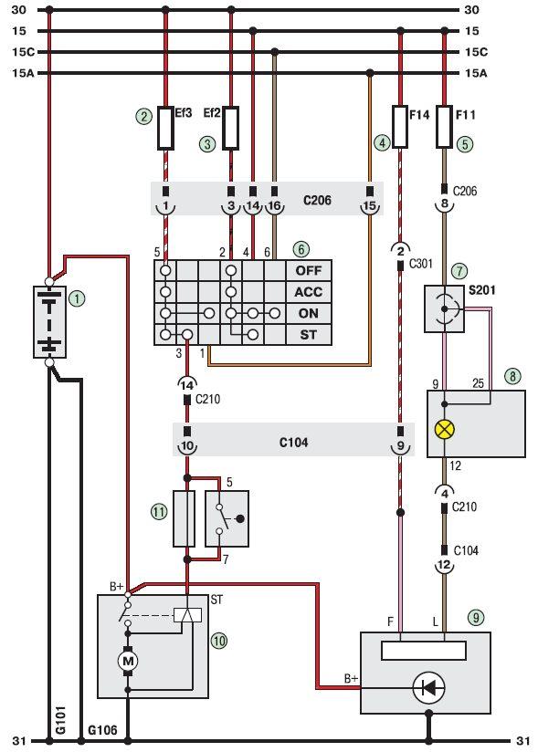 Электросхема генераторной