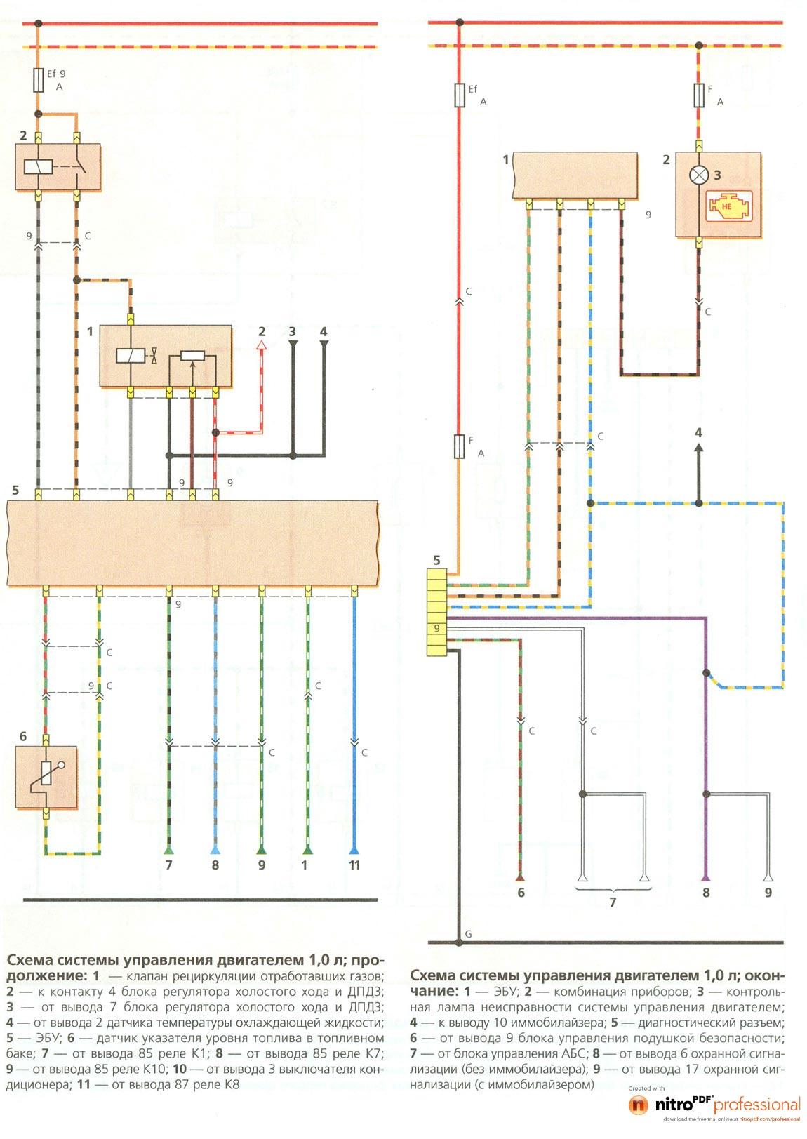 Коробка блок реле 3 схема