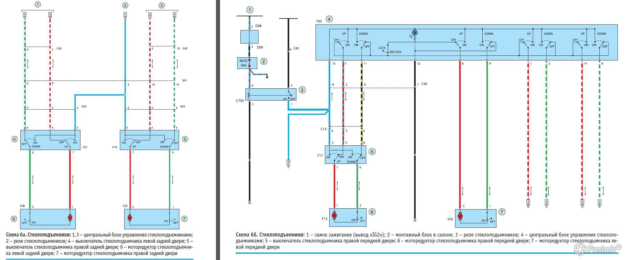 Схема проводки pajero sport i