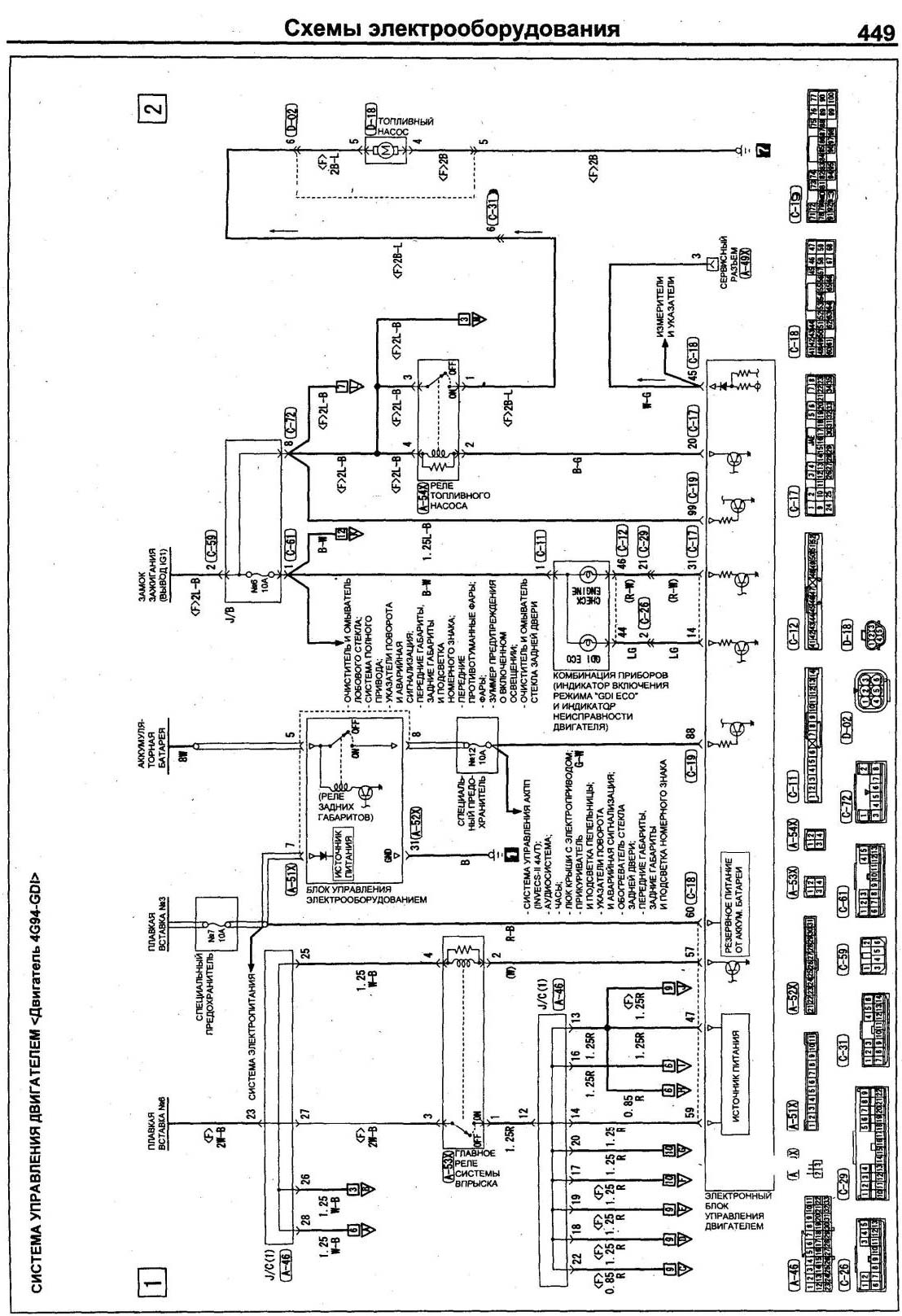 паджеро 3 схемы электрооборудования