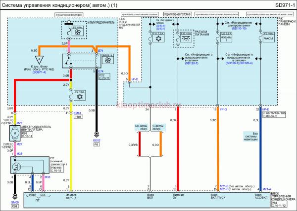 Электрическая схема КИА Оптима