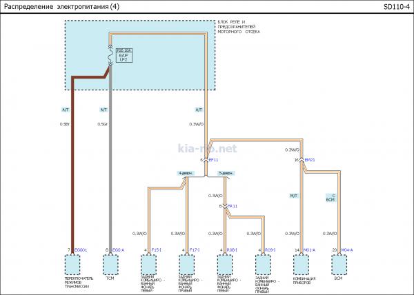 Схема электрооборудованияВАЗ 2105
