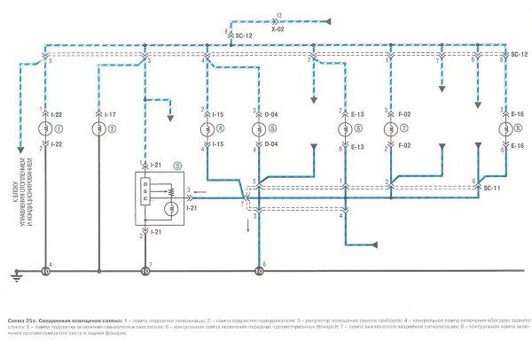 Схема электрооборудования Киа