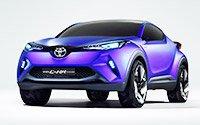 Новый кроссовер Toyota C-HR слегка «приоткрыл личико»