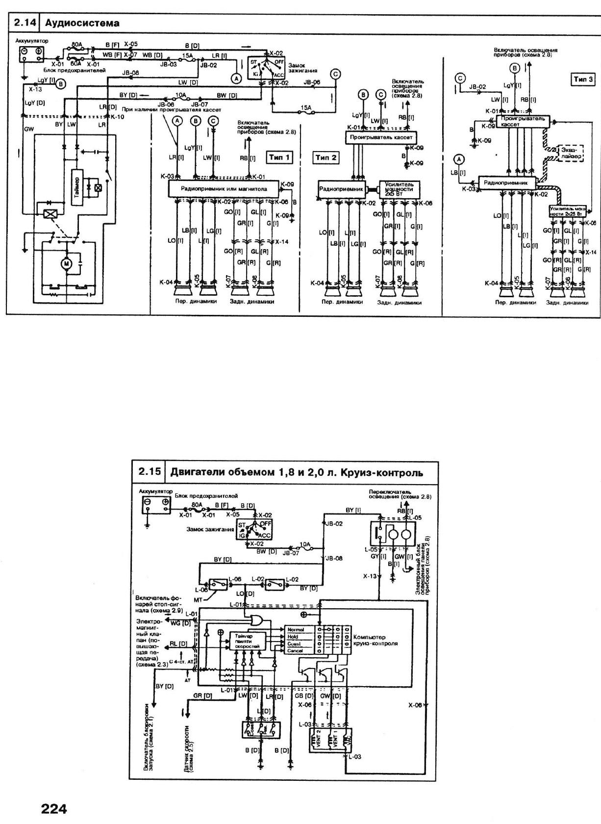 мазда 626 2 и 0 3 схема электронного блока управления