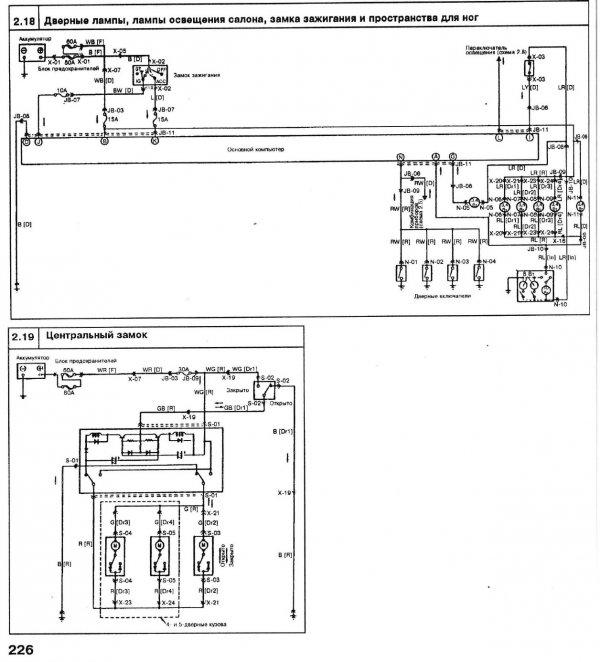 Схема электропривода люка в