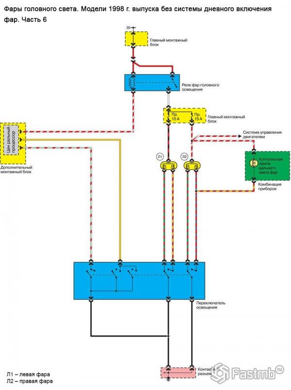 Электрическая схема фар