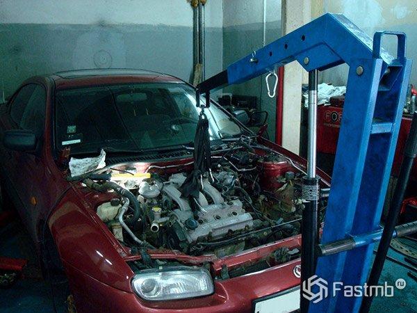 Как снять старый двигатель автомобиля