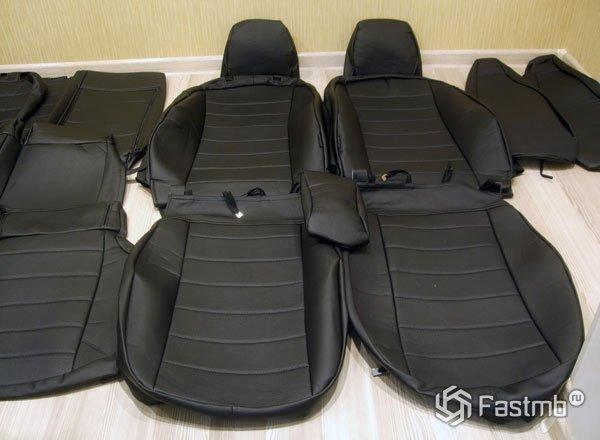 Новые чехлы на сиденья автомобиля