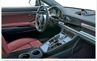 В сети появились снимки обновленного салона Porsche Panamera