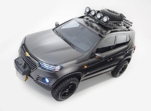 Chevrolet Niva 2018, вид сверху
