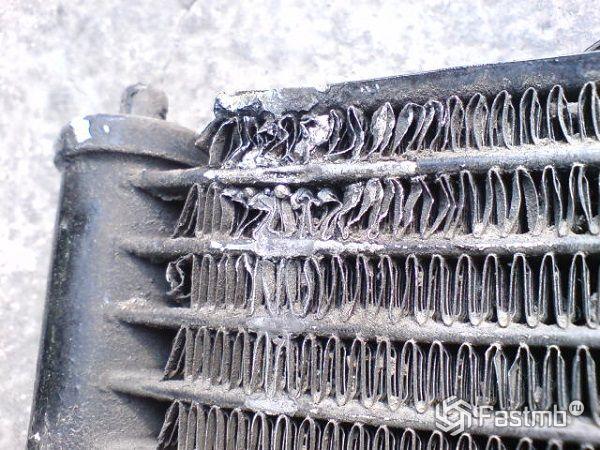 Причины неисправностей радиатора охлаждения