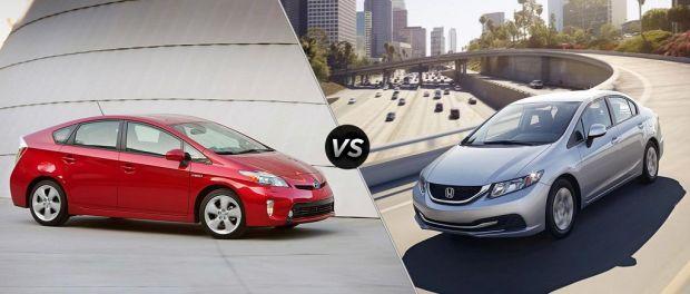 Toyota Prius vs Honda Civic Hybrid