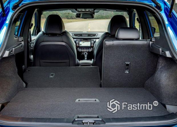 Багажное отделение Nissan Qashqai 2018