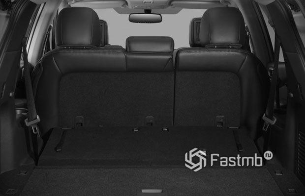 Nissan Pathfinder 2018, багажное отделение