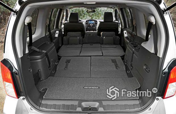 Nissan Pathfinder 2009, багажное отделение
