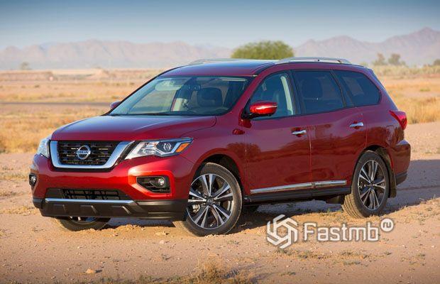 Nissan Pathfinder 2017, вид спереди