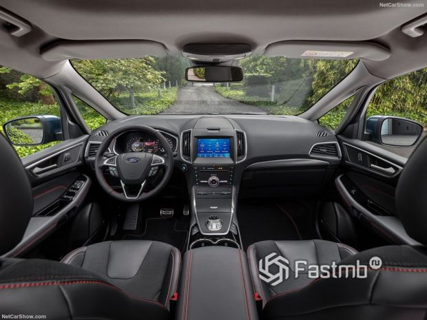 Салон Ford S-Max 2020, руль и панель управления