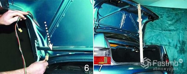 Как снять крышку багажника шаг 6-7
