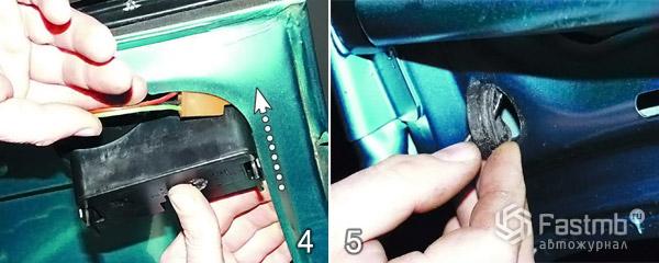Как снять крышку багажника шаг 4-5