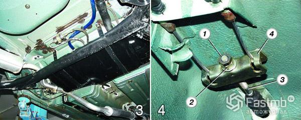 Замена троса ручного тормоза шаг 3-4