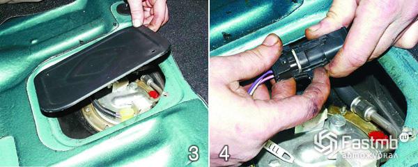 Замена топливного фильтра шаг 3-4