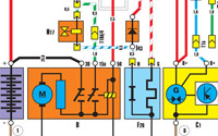 Схема соединений генератора, стартера, аккумулятора