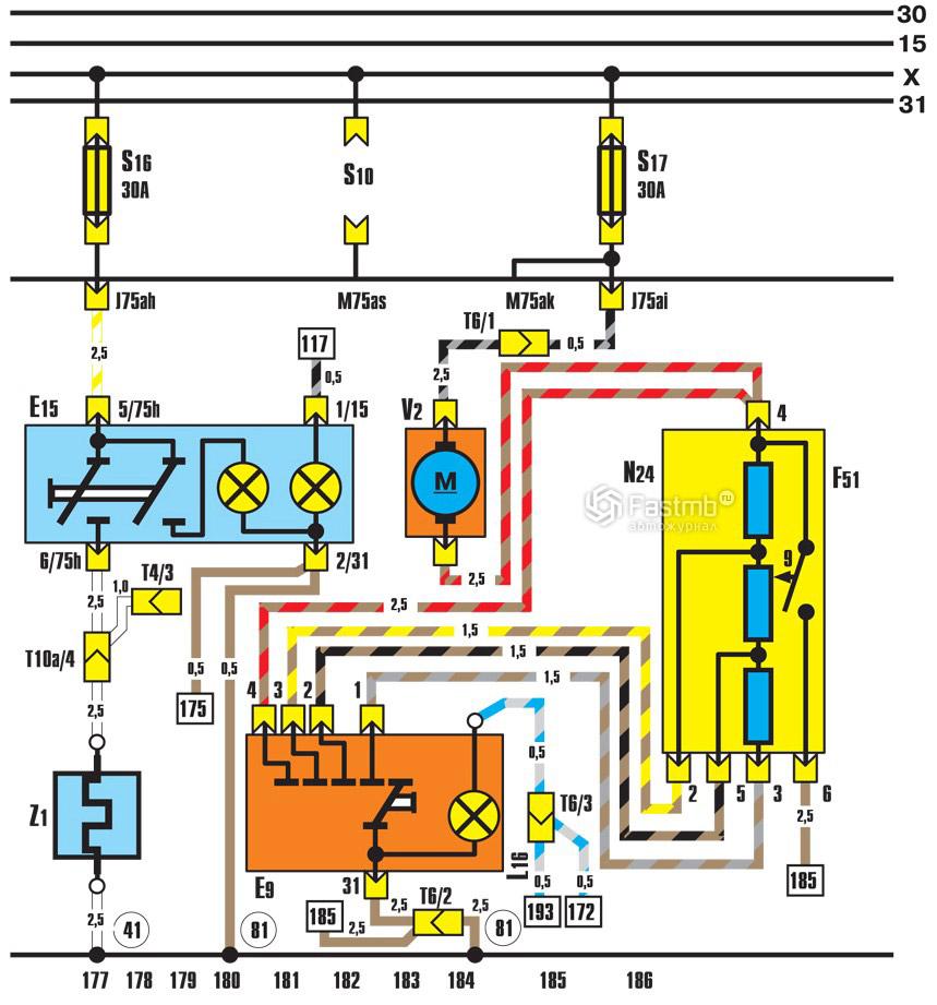 Ауди схема вентилятора