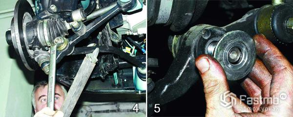 Замена рычага передней подвески шаг 4-5